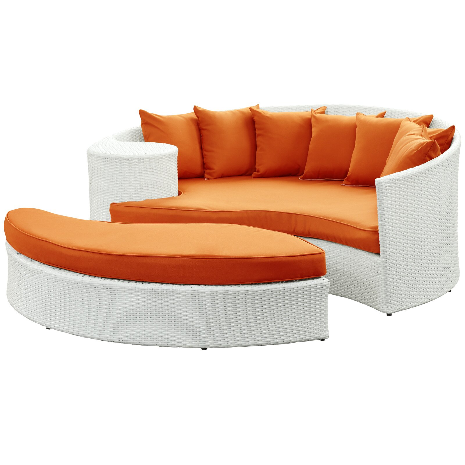 Brayden Studio Greening Outdoor Daybed with Ottoman