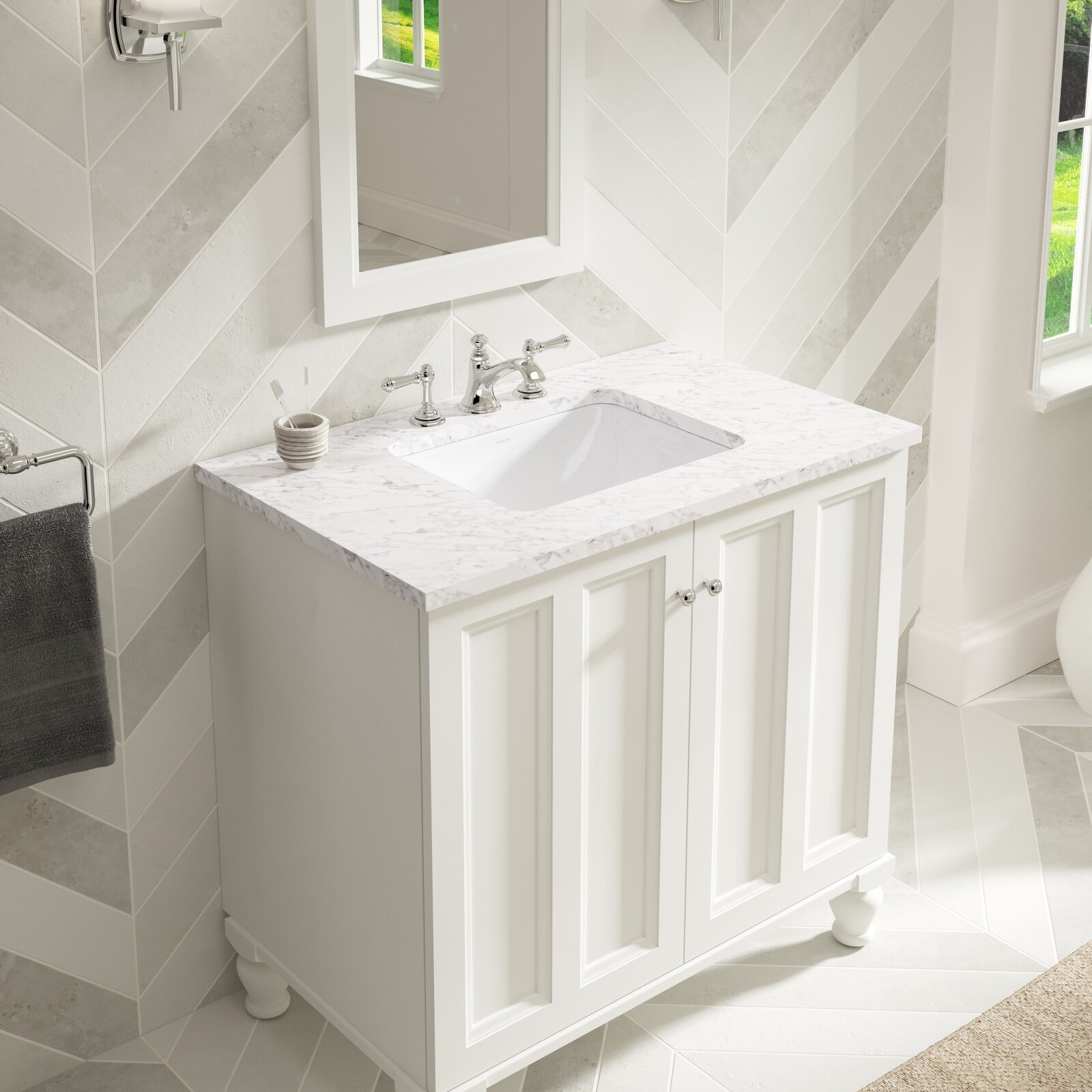 Kohler caxton rectangle undermount bathroom sink with - How to install an undermount bathroom sink ...