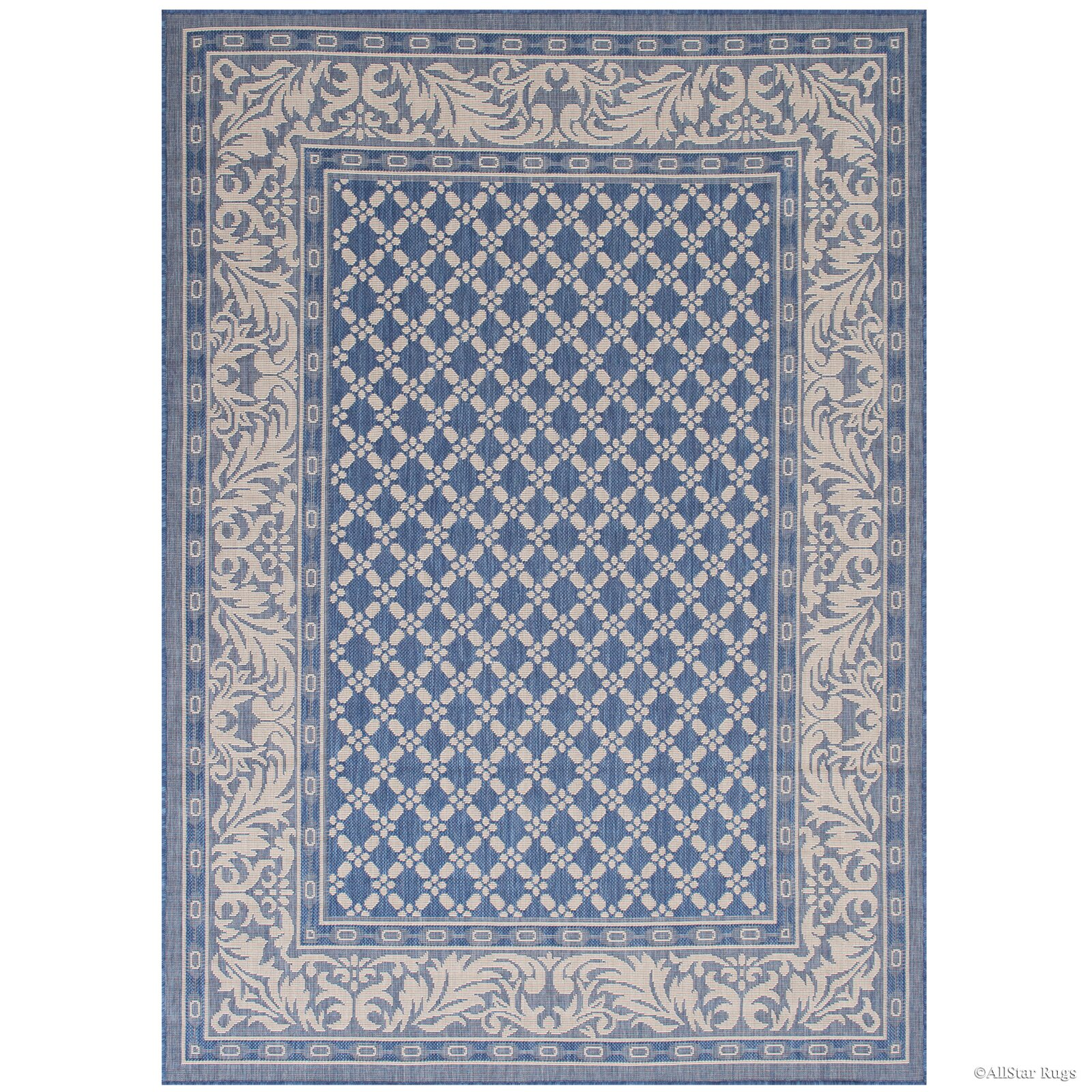 Charlton home benningfield all weather blue indoor outdoor for All weather patio rugs
