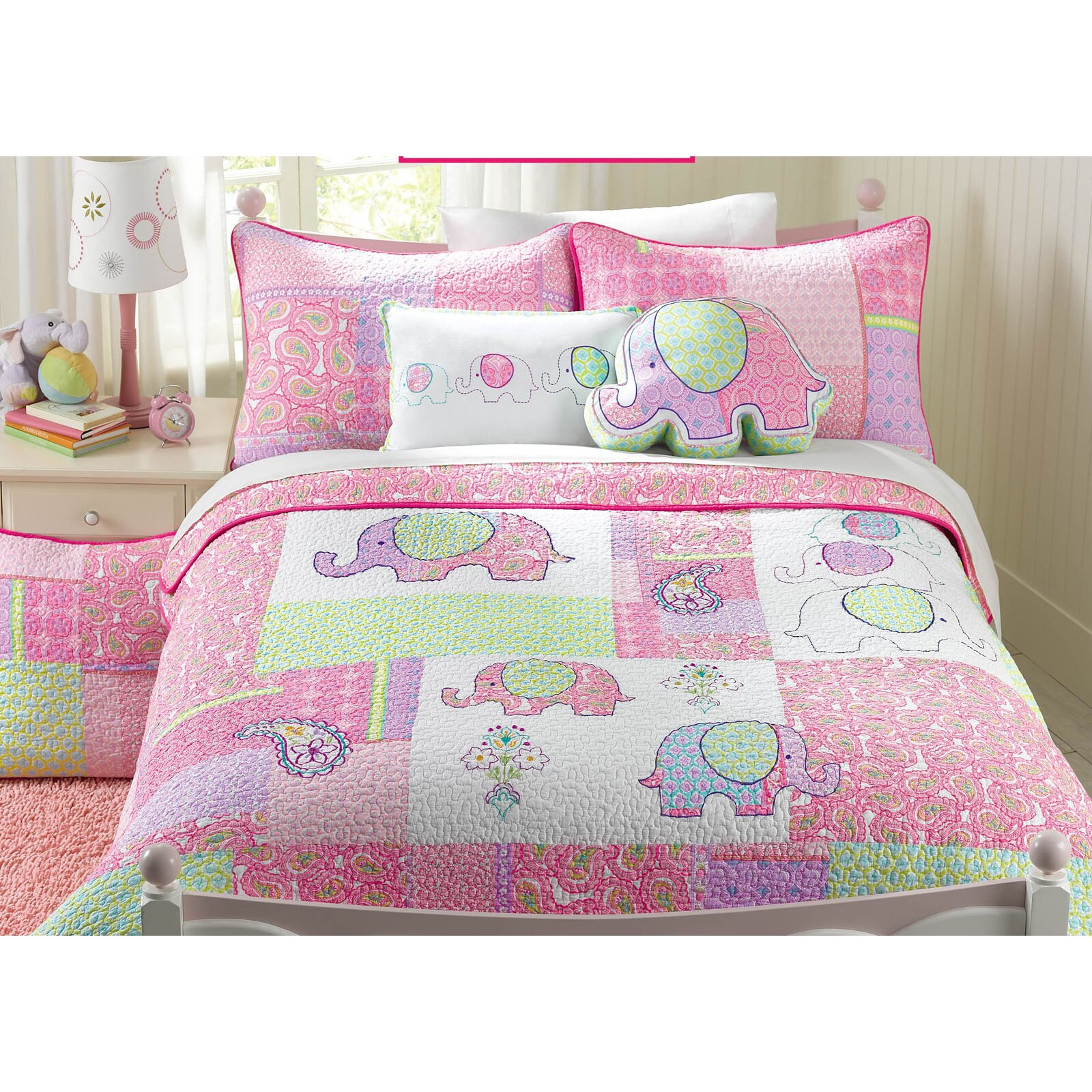 Harriet Bee Rollins 3 Piece Crib Bedding Set: Harriet Bee Carmela 100% Cotton Reversible Quilt Set