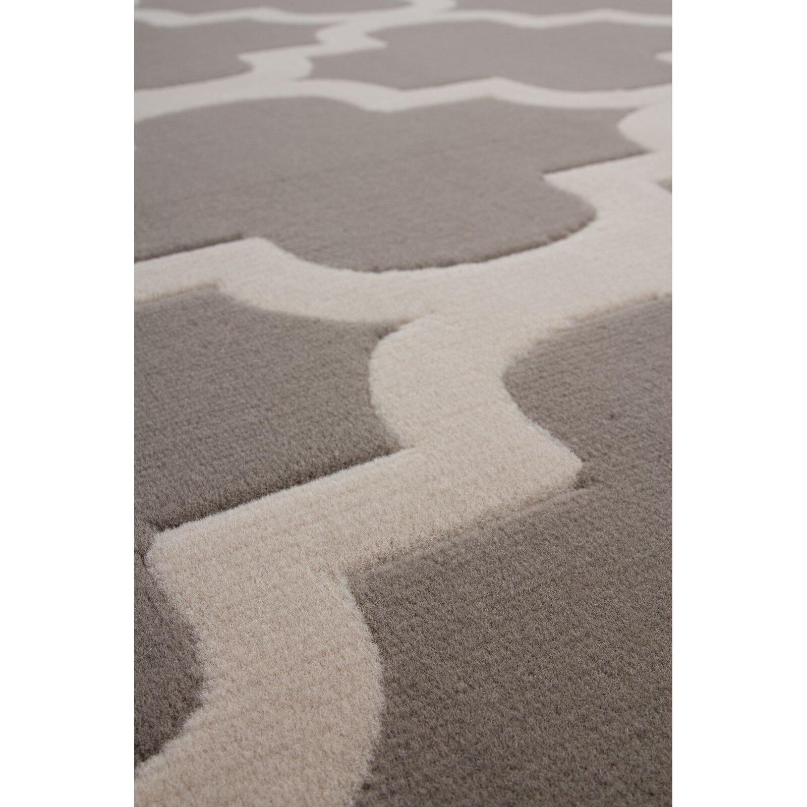 Urban Facettes Teppich Manolya 2095 in Silber  Wayfairde