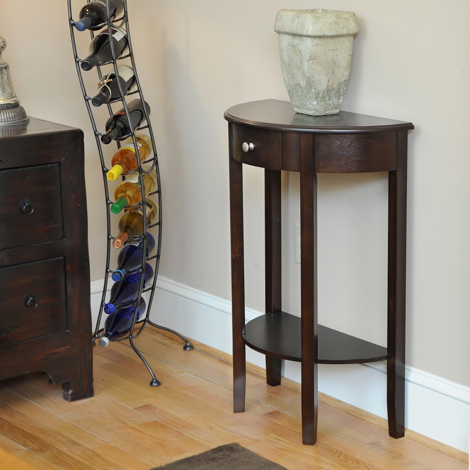 wildon home bay shore half moon console table reviews wayfair. Black Bedroom Furniture Sets. Home Design Ideas