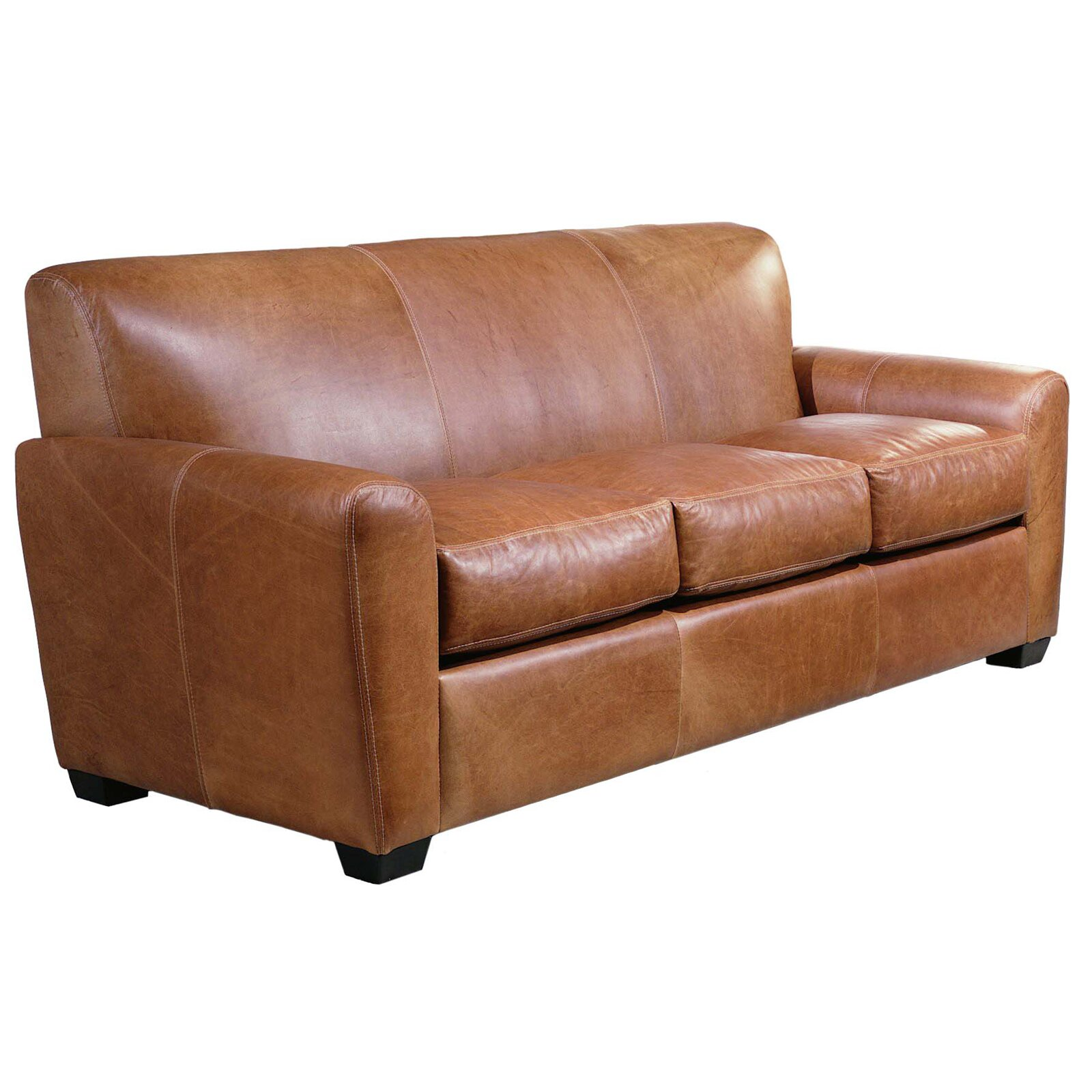 Omnia Leather Jackson Leather Sleeper Sofa & Reviews