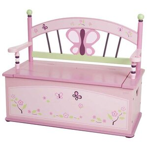Sugar Plum Kids Bench with Storage Compartment by Levels of Discovery