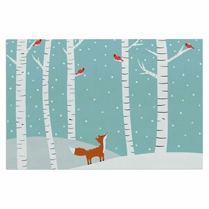 Cristina Bianco Fox Cardinal Winter Kids Doormat
