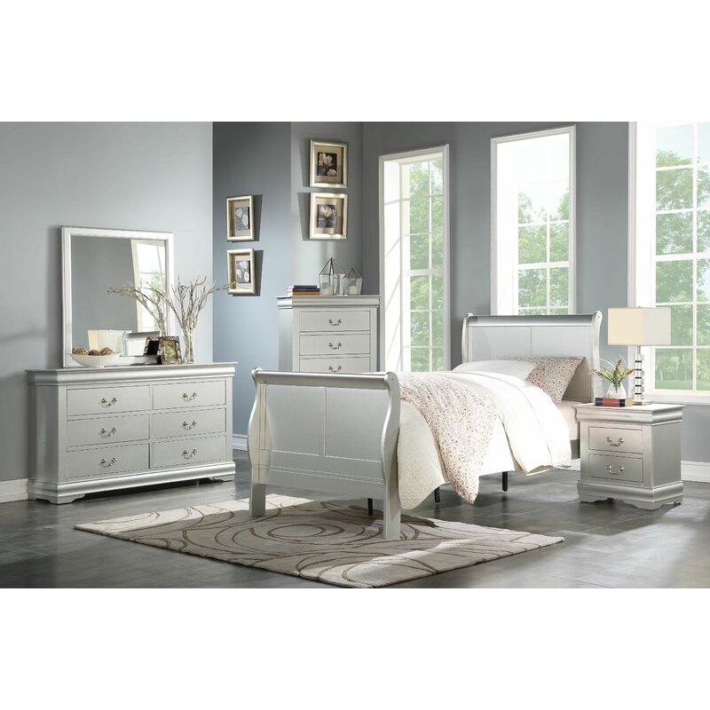 Grovelane Teen Sophia Sleigh Configurable Bedroom Set Wayfair