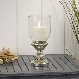 Traditional Glass Pedestal Hurricane