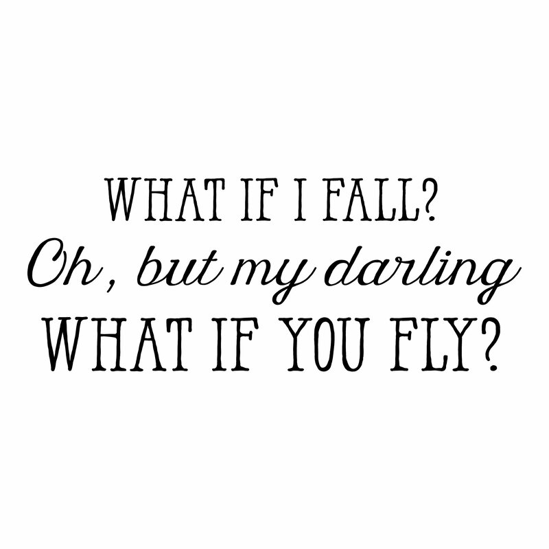 Finish Work Quotes: Belvedere Designs LLC What If I Fall Wall Quotes™ Decal