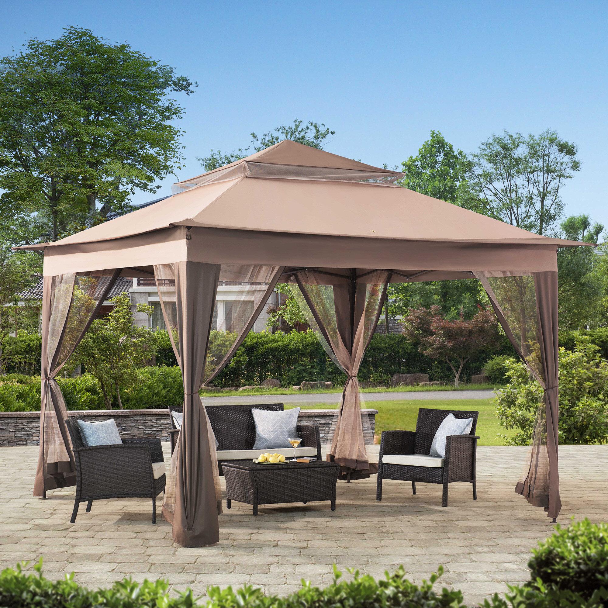 sunjoy 10 ft w x 10 ft d patio canopy reviews wayfair
