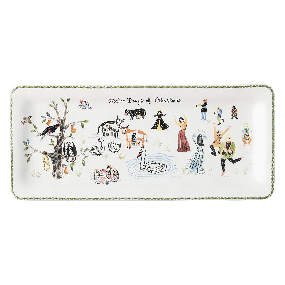 Juliska Twelve Days of Christmas Rectangular Hostess Serving Tray ...
