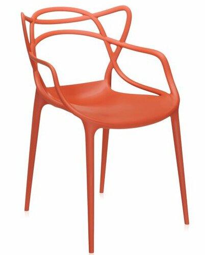 Orange Plastic Chair masters arm chair & reviews | allmodern