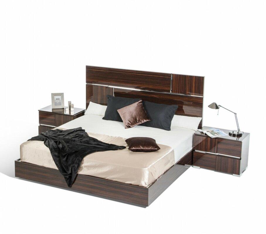 Orren Ellis Falbo Italian California King Platform Bed Reviews