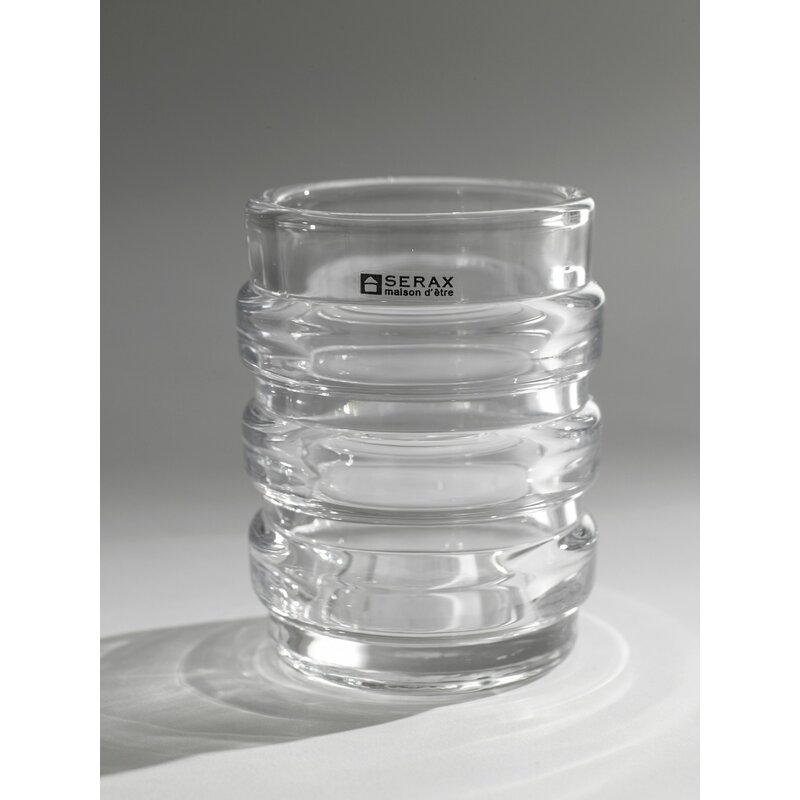 Serax Ribbed Cylinder Blear Glass Table Vase Wayfair