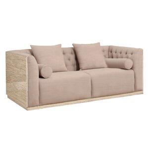 Willa Arlo Interiors Chauntel Fabric Wood Chesterfield Sofa