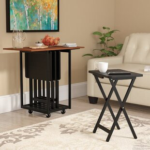 Axton Drop Leaf Table with TV Tray Table Set & 48 Inch Drop Leaf Table | Wayfair