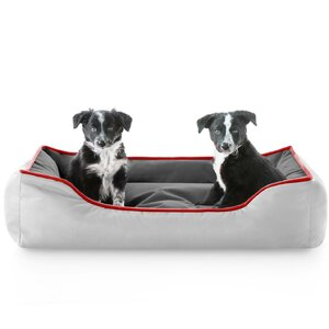 Reversible Waterproof Bolster Dog Bed