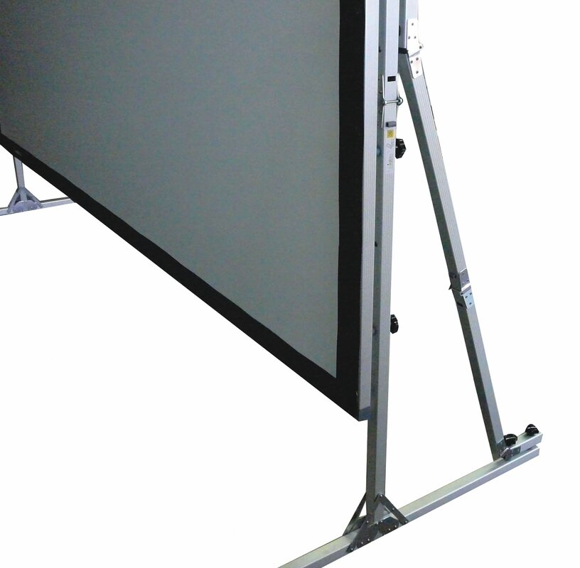 QuickStand Series White 150'' diagonal Portable Projection Screen