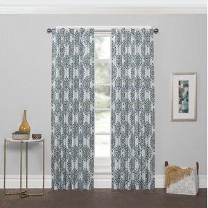 Drakes Damask Room Darkening Rod Pocket Single Curtain Panel
