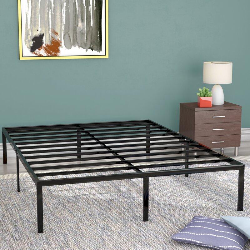Alwyn Home Classic Metal Platform Bed Frame \u0026 Reviews | Wayfair