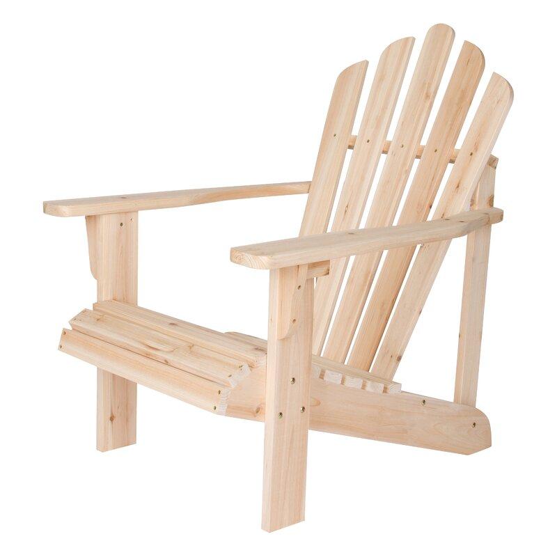 High Quality Burtville Solid Wood Adirondack Chair