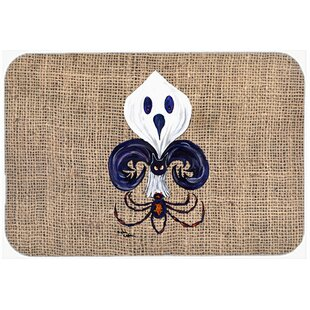 Ghost Spider Bat Fleur De Lis Kitchen Bath Mat