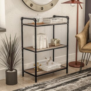 3 Tier Metal Pipe Etagere Bookcase & Industrial Pipe Bookcase | Wayfair