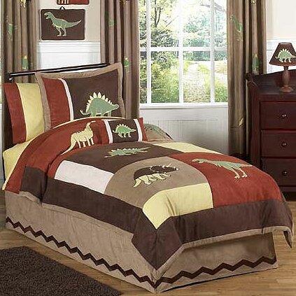 sweet jojo designs dinosaur land 3 piece fullqueen comforter set u0026 reviews wayfair