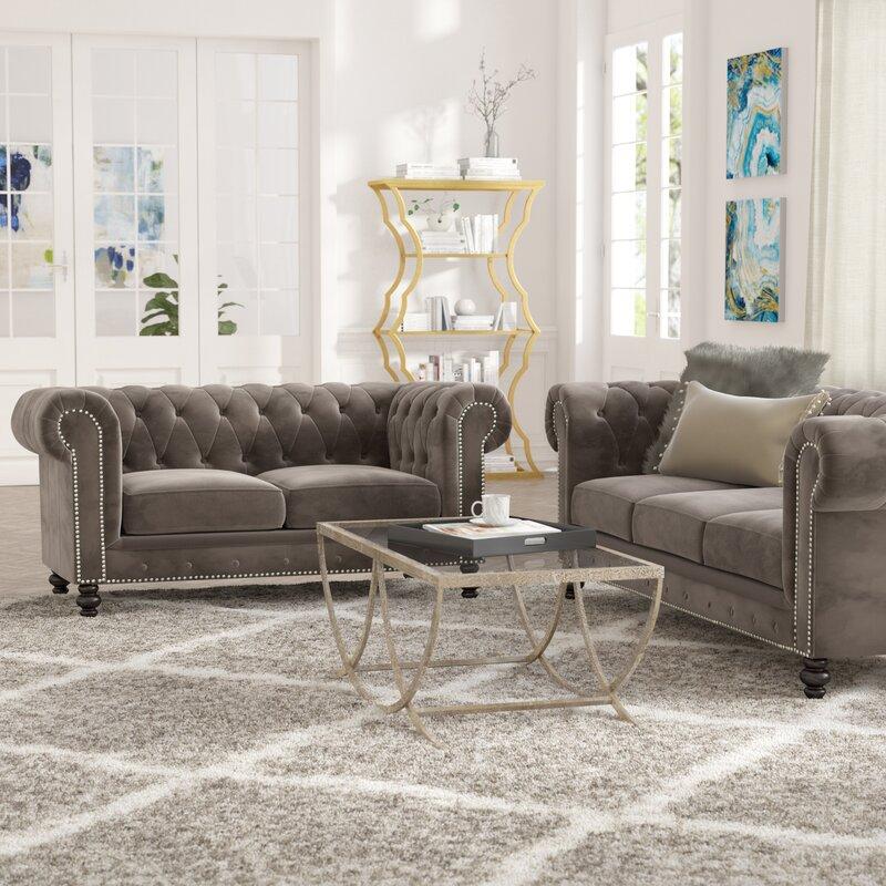 Boronda 2 Piece Living Room Set & Reviews   Joss & Main