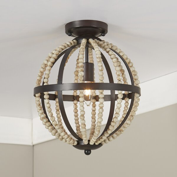 Birch Lane Dyer Beaded Flush Mount Amp Reviews Wayfair