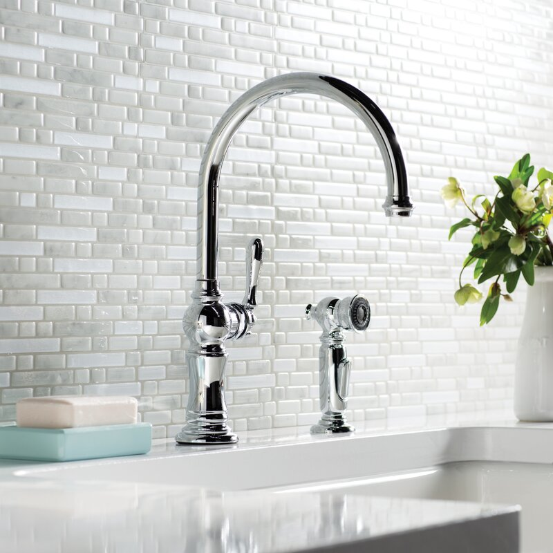 Artifacts 2 Hole Kitchen Faucet With Swing Spout And BerrySoft™,  MasterClean™,