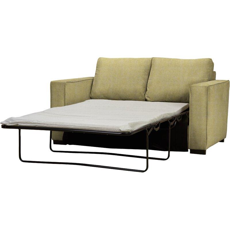 wayfair custom upholstery newbury 2 seater fold out sofa. Black Bedroom Furniture Sets. Home Design Ideas