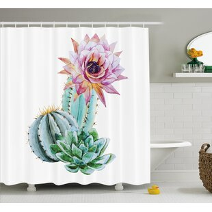 Harkness Cactus Spikes Flower Single Shower Curtain