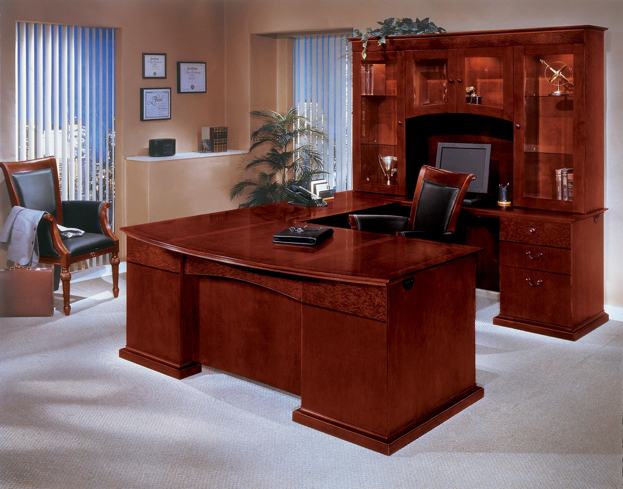 Charmant DMI Office Furniture Del Mar U Shape Executive Desk With Hutch | Wayfair