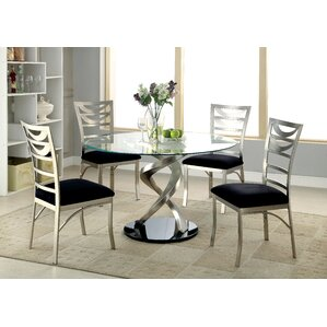 Cannon 5 Piece Dining Table by Hokku Desi..