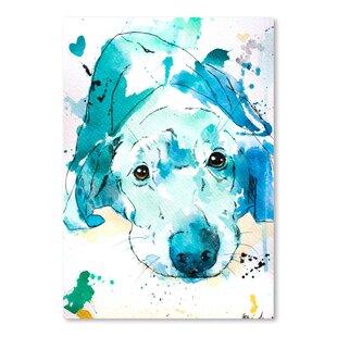 Labrador retriever wall art wayfair blue labrador retriever graphic art print on wrapped canvas malvernweather Gallery