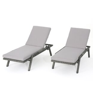 image outdoor furniture chaise. Thebes Outdoor Wicker Chaise Lounge With Water Resistant Cushion (Set Of 2) Image Furniture