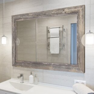 Charmant Coastal Weathered Gray Wall Mirror