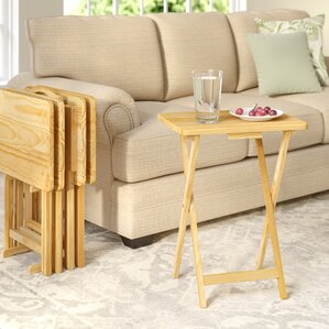 Mischa TV Tray Table With Stand (Set Of 4)