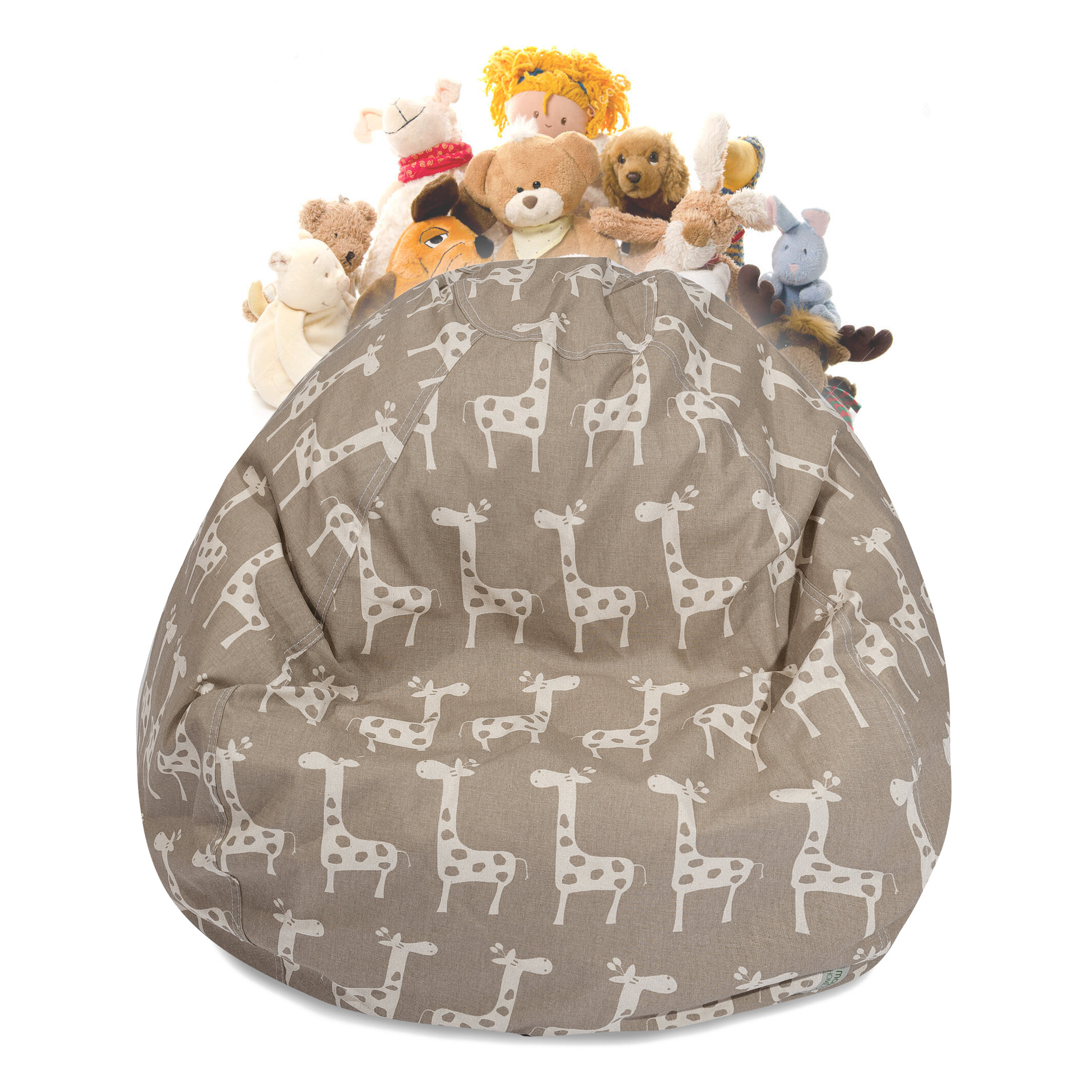 Harriet Bee Stretch Stuffed Animal Toy Storage Bean Bag Chair Wayfair
