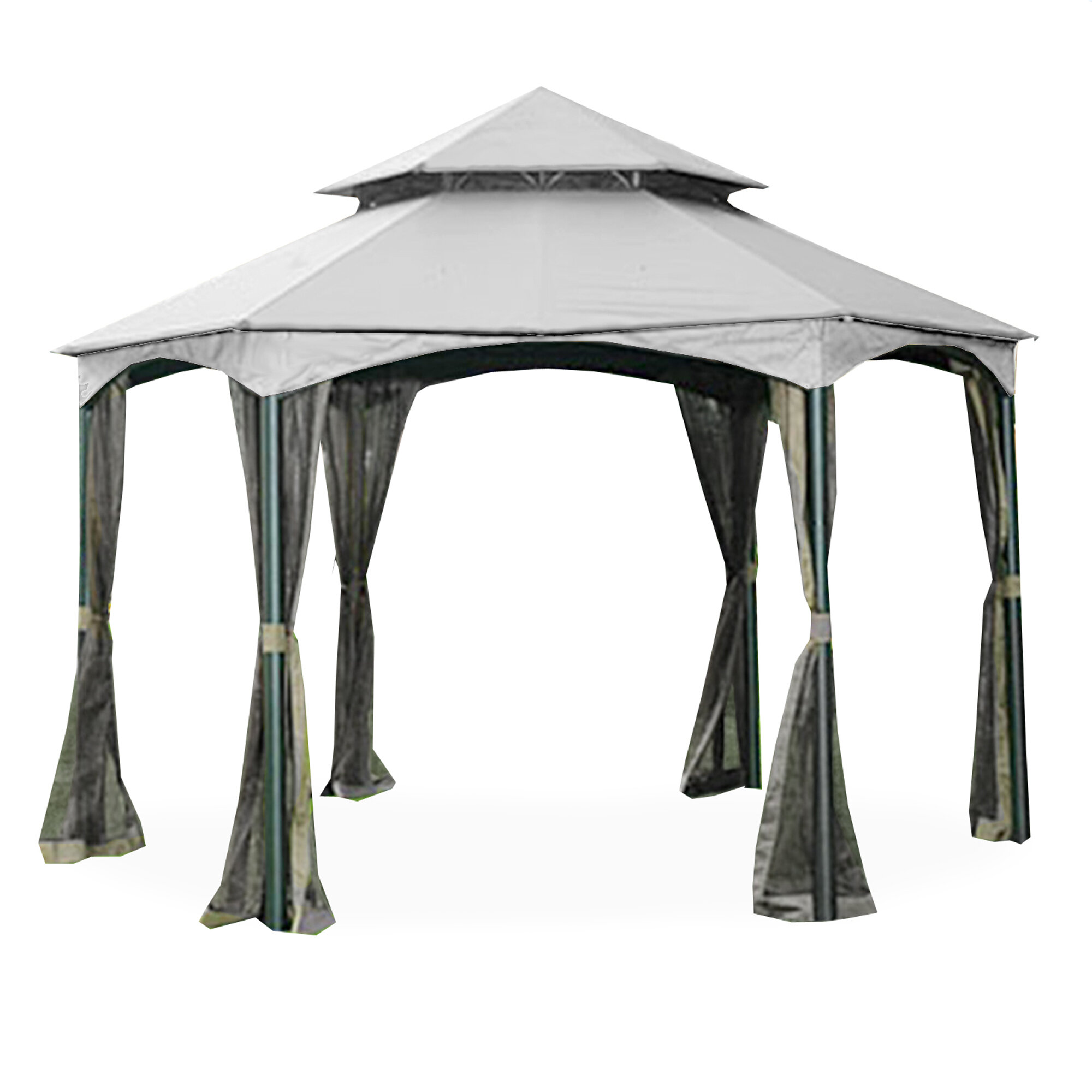 Replacement Canopy Cover Gazebo Top Tight Tent Wind Side Sun Shelter Shade
