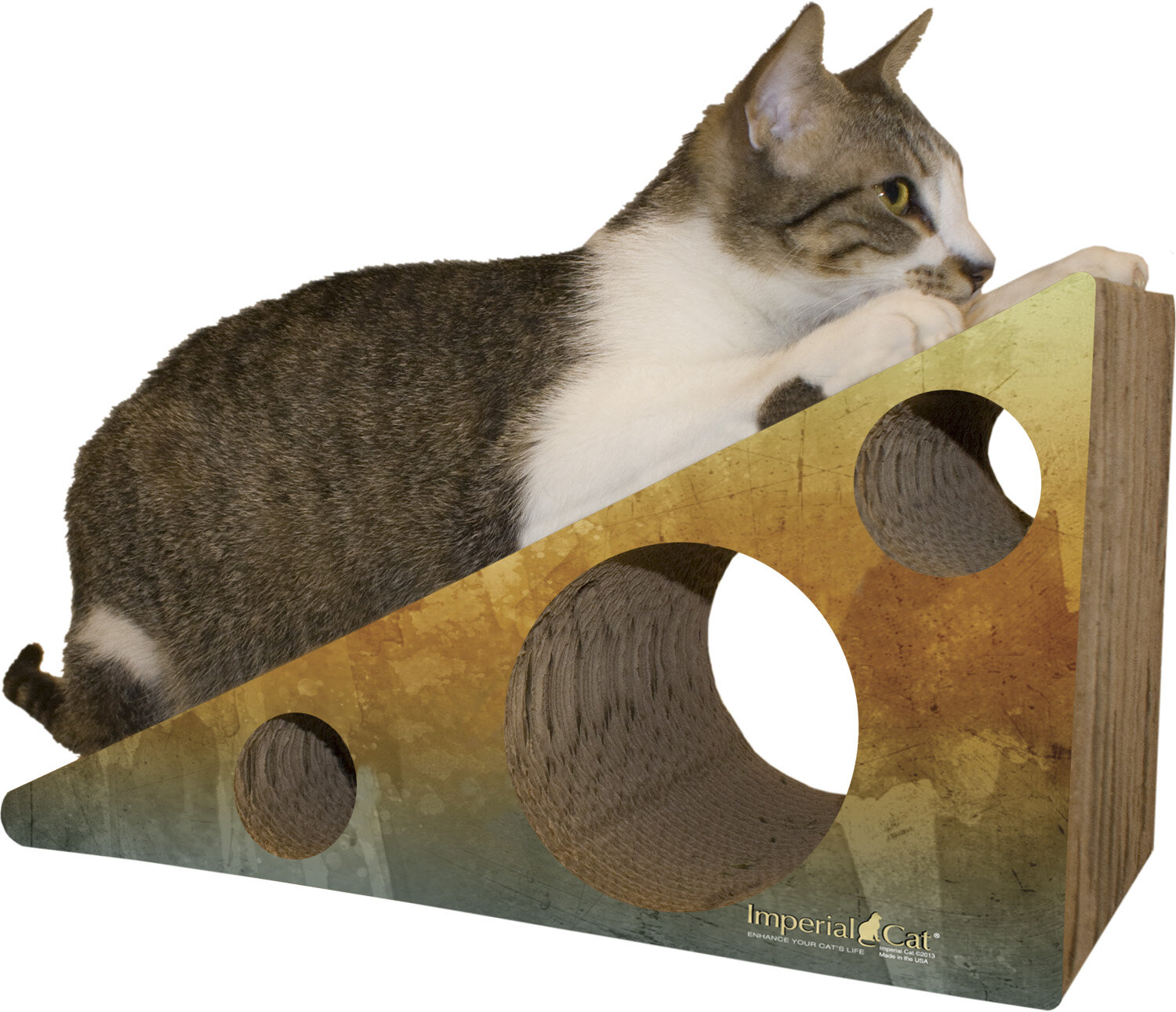 Imperial cat scratch 39 n shapes wedge recycled paper for Chaise lounge cat scratcher