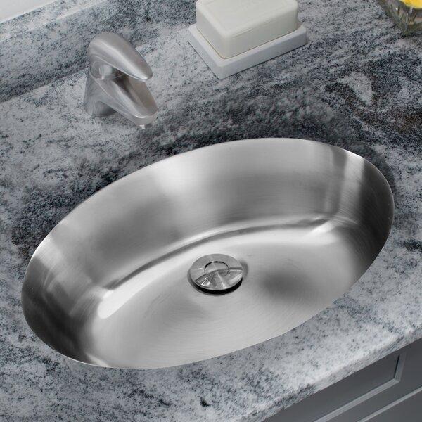 Ipt Sink Company Stainless Steel Drop Lavatory Oval Undermount Bathroom Sink With Overflow Wayfair