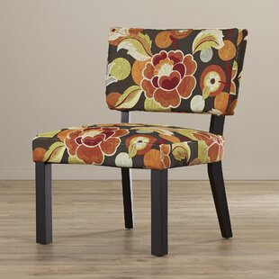 Barragan Floral Print Fabric Slipper Chair