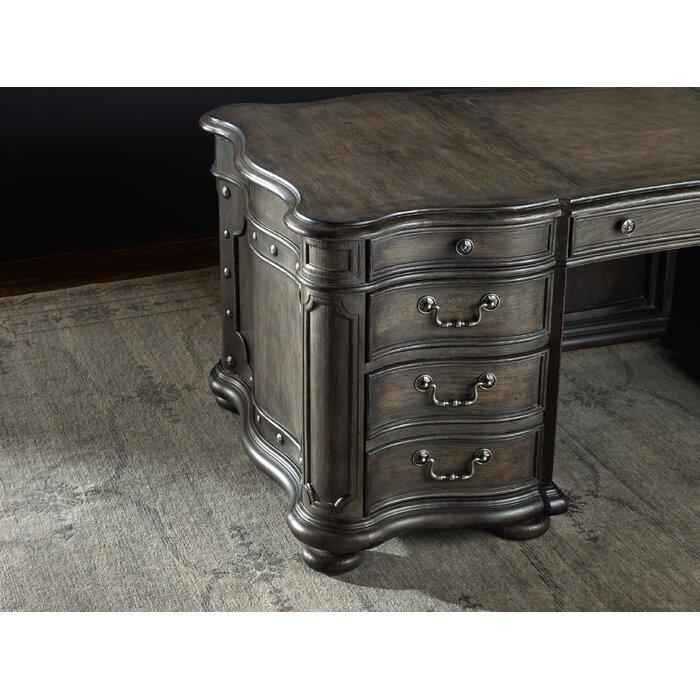 Vintage West Solid Wood Executive Desk