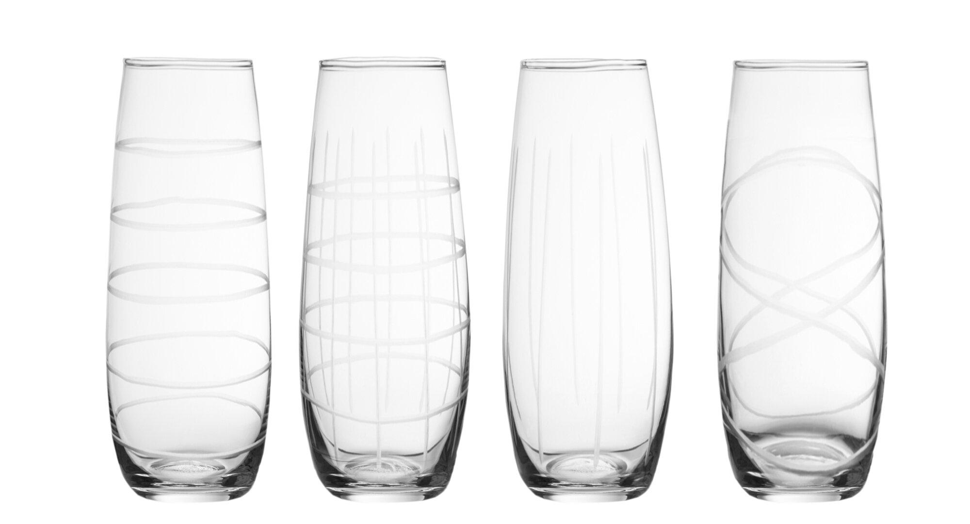 5aac298ebf1 Mayor 4 Piece Stemless Wine Glass Set
