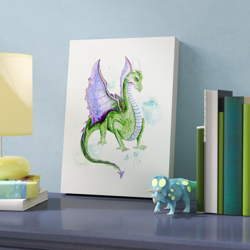 Zoomie Kids Jewell Dragon Portrait by Brett Blumenthal Stretched ...