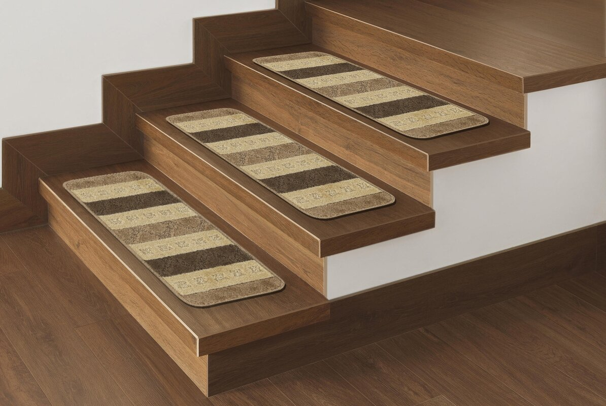 Carreras Striped Brown Stair Tread