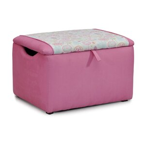 Mixy Kids Suede Ottoman with Storage Compartment by Kidz World