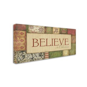'Believe in' Textual Art on Wrapped Canvas