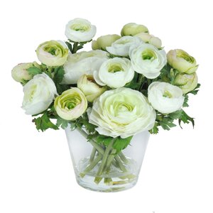 Ranunculus Floral Arrangement in Vase